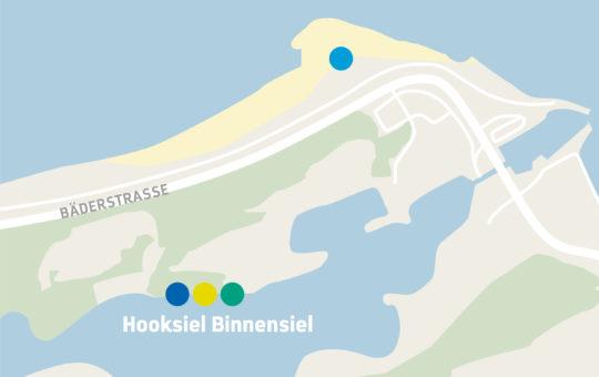 Karte Hooksiel Binnensiel